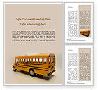 Education & Training: Toy School Bus Word Template #15736