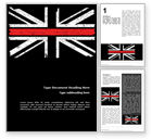 Military: Thin Red Line British Flag Word Template #15741
