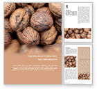Food & Beverage: Walnuts Word Template #15743