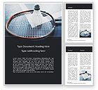 Sports: Close-up Badminton Racket and Shuttlecock Word Template #15744