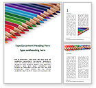 Education & Training: Colored Pencils Arranged in a Line Word Template #15757