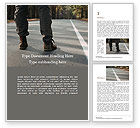 Business Concepts: Man Wearing Boots Standing on a Road Word Template #15758