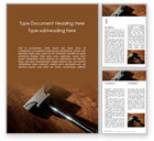 Careers/Industry: Vacuum Cleaner Brush on Wooden Floor Word Template #15763