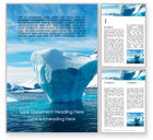 Nature & Environment: Chunk of Ice Word Template #15765