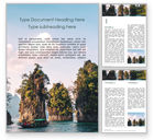 Nature & Environment: View of Khao Sok National Park Word Template #15766