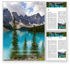 Nature & Environment: View of Moraine Lake Word Template #15767