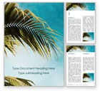 Nature & Environment: Palm Leaves Against the Turquoise Sky Word Template #15769