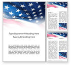 3D: Stars and Stripes Word Template #15773
