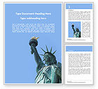 America: The Statue of Liberty in New York City Word Template #15776