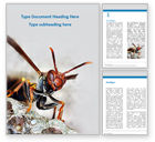 Education & Training: Wasp is Guarding its Nest Word Template #15778