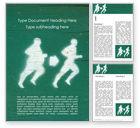 Sports: Modello Word Gratis - Concetto di perdita di peso con sagome di persone #15786