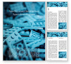 Education & Training: Scattered Blue Blocks of Building Kit Word Template #15788