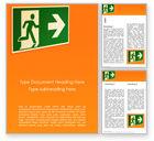 Careers/Industry: Modelo de Word Grátis - sinal de saída de emergência em fundo laranja #15796