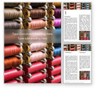 Careers/Industry: Spools of Multi-Colored Threads Word Template #15802