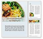 Food & Beverage: Plantilla de Word gratis - plato de tofu y verduras a la parrilla #15811
