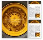 Cars/Transportation: Modelo de Word Grátis - foto do close up da roda amarela do veículo com pneu #15822