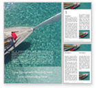 Sports: Sailboat From Above Word Template #15823