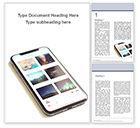 Technology, Science & Computers: Plantilla de Word gratis - smartphone en escritorio blanco #15824