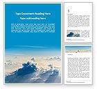 Nature & Environment: Modello Word Gratis - Nuvole nel cielo #15829