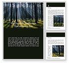 Nature & Environment: Modèle Word gratuit de forêt d'épinettes et de sapins #15830