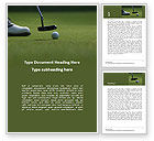 Sports: Golfing Holidays Word Template #15831