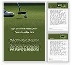 Sports: Plantilla de Word gratis - vacaciones de golf #15831