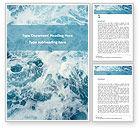 3D: Plantilla de Word gratis - espuma de mar #15833
