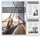 Sports: Modello Word Gratis - Piattaforma della barca a vela sul tramonto #15836