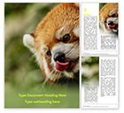 General: Red Panda Climbing on Tree Word Template #15840