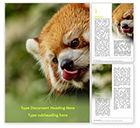 General: Plantilla de Word gratis - panda rojo que sube en árbol #15840