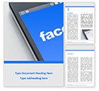 Technology, Science & Computers: Plantilla de Word gratis - smartphone con inscripción de facebook en pantalla #15841
