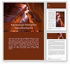 Nature & Environment: Modèle Word gratuit de ravin de grès tourbillonnant #15842