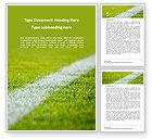 Sports: Plantilla de Word gratis - campo verde para juegos deportivos #15851