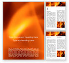 Abstract/Textures: Plantilla de Word gratis - fondo abstracto de fuego con llamas #15855