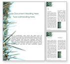 Nature & Environment: Modèle Word gratuit de gros plan d'épines de cactus #15858