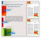Art & Entertainment: Plantilla de Word gratis - rodillos de pintura multicolores #15863