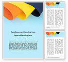 Abstract/Textures: Three Colored Cambered Paper Sheets Word Template #15866