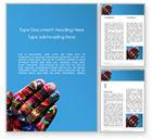 Art & Entertainment: Plantilla de Word gratis - manchado a mano con pinturas mixtas #15873