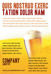 Food & Beverage: Beer Tumbler Ad Template #00750