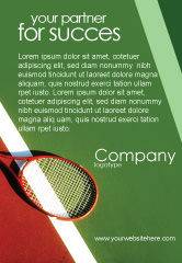 Sports: 网球拍广告模板 #00807