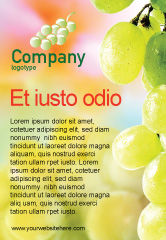 Food & Beverage: White Grape Ad Template #01281