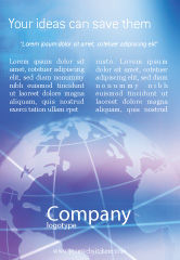Global: Blauwe Aarde Abstract Advertentie Template #01511