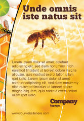 Food & Beverage: Wafers and Honey Ad Template #01518