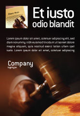 Legal: Legal Ad Template #01625