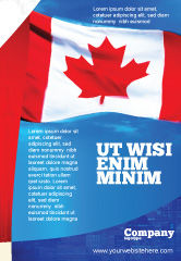 Flags/International: Canadian Flag Ad Template #01654