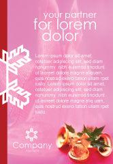 Holiday/Special Occasion: 在粉红色背景上的圣诞节钟声广告模板 #01679