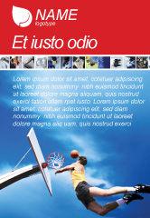 Sports: 飞行的篮球运动员广告模板 #01713