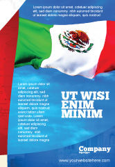 Flags/International: Mexican Flag Ad Template #01716