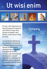 Religious/Spiritual: Blue Cross Ad Template #01804