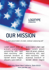 America: Flag of the United States of America Ad Template #01851